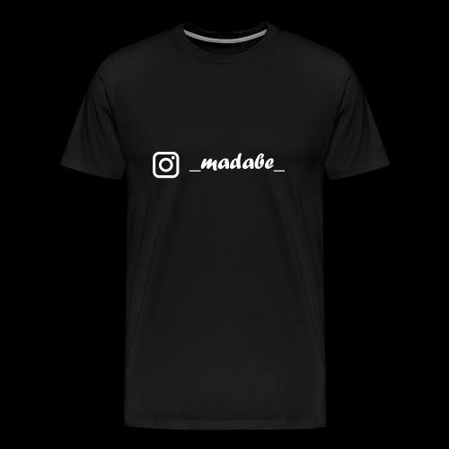 madabe instagram weiss - Männer Premium T-Shirt