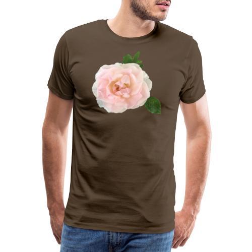 Ruusu Morden Blush - Miesten premium t-paita