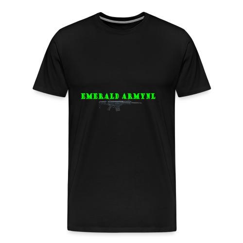 EMERALDARMYNL LETTERS! - Mannen Premium T-shirt