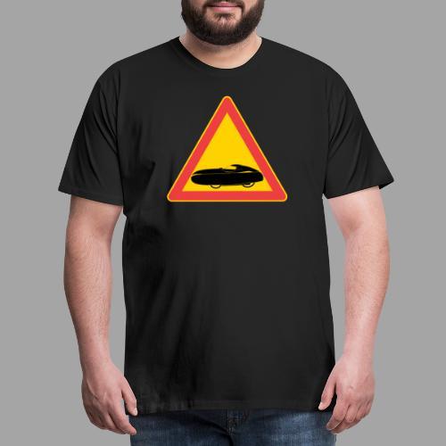 Traffic sign velomobile - Men's Premium T-Shirt