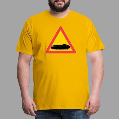 Traffic sign velomobile - Miesten premium t-paita