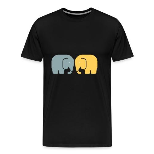Vi två elefanter - Premium-T-shirt herr