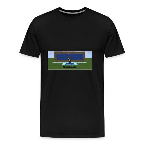 SkiSnowGames - Mannen Premium T-shirt