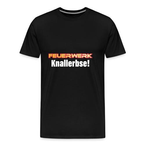 Feuerwerk Design 107 Knallerbse - Männer Premium T-Shirt