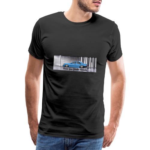 "Mercedes 190E "" Team Gas Glada Bönder"" - Premium-T-shirt herr"
