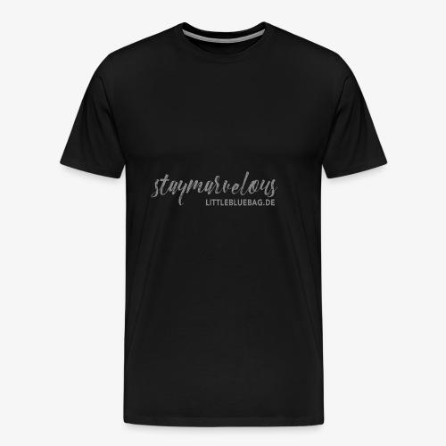 4 staymarvelous hellgrau - Männer Premium T-Shirt