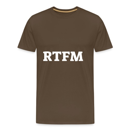 RTFM - Herre premium T-shirt