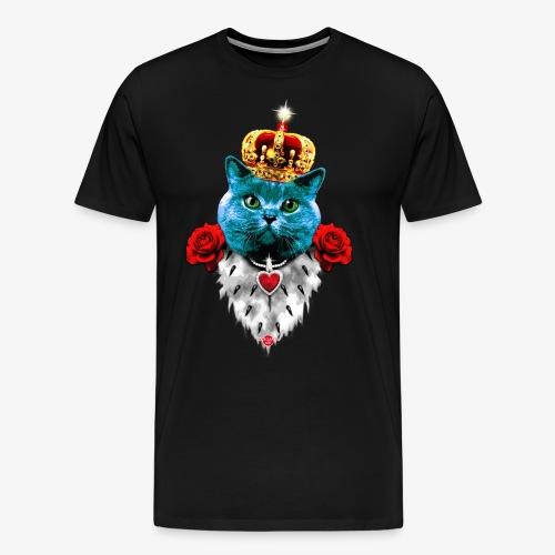 18 Blue Cat King Red Roses Blaue Katze König Rosen - Männer Premium T-Shirt