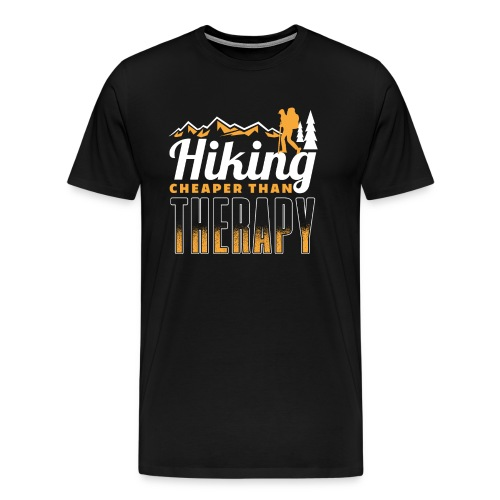 Hiking Cheaper Than Therapy - Männer Premium T-Shirt