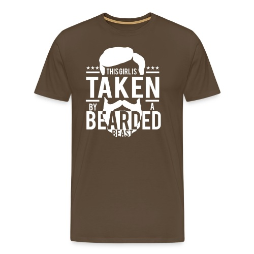 This Girl Is Taken By A Bearded Man - Männer Premium T-Shirt