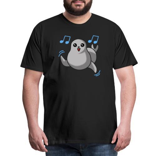 Dancing Seal + Paratronix Logo Back - Männer Premium T-Shirt