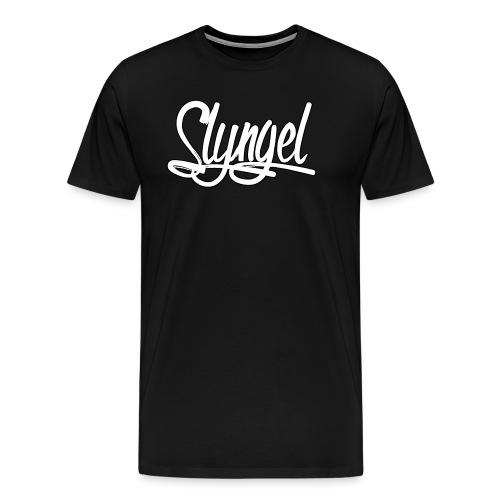 Slyngel logo - Premium T-skjorte for menn
