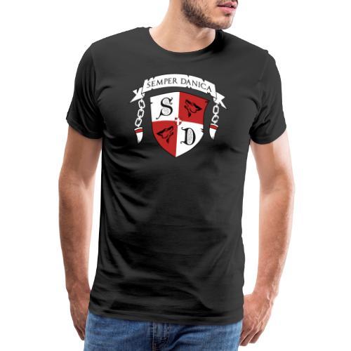 SD logo - hvide lænker - Herre premium T-shirt