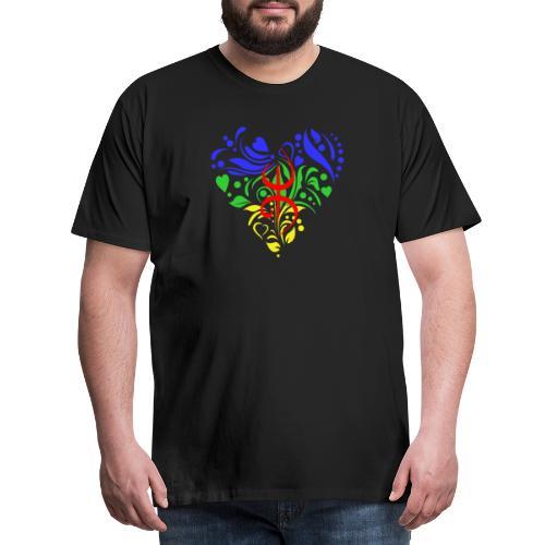 Amazigh berbère Coeur - T-shirt Premium Homme