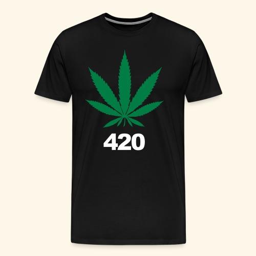 Weed Shirt 420 Tag Maryjane Gras Cannabis Geschenk - Men's Premium T-Shirt