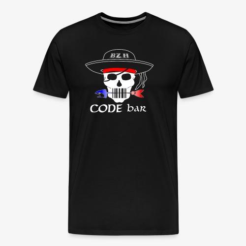 Code Bar white - T-shirt Premium Homme