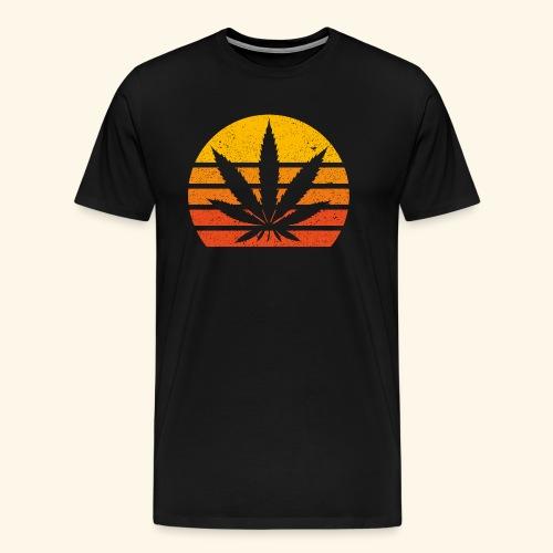 Hanfblatt Cannabis Weed Sonne THC 420 Geschenk - Men's Premium T-Shirt