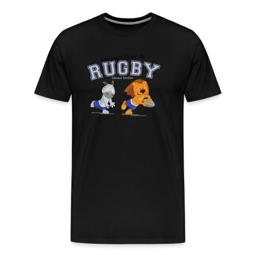 jouer au rugby comme tonton - T-shirt Premium Homme