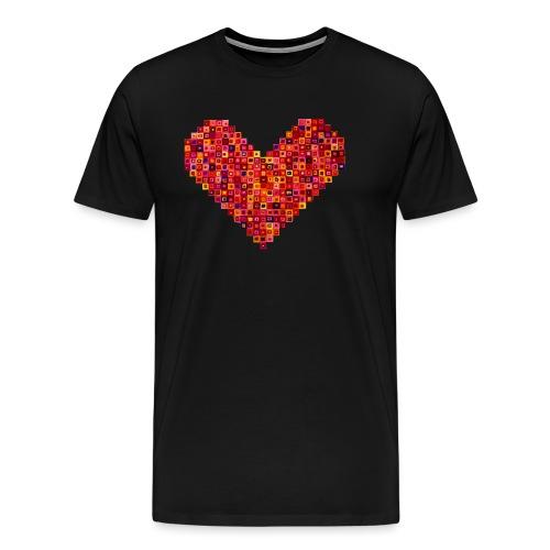 Rotes Herz aus Karos - Männer Premium T-Shirt