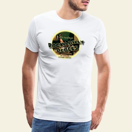 rockabilly rebels pinup - Herre premium T-shirt