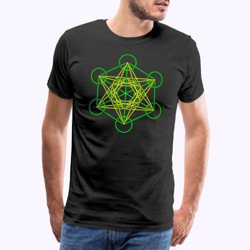 Metatron Cube 2 Color - Camiseta premium hombre