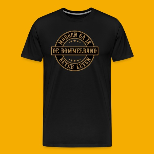 bb logo rond shirt - Mannen Premium T-shirt
