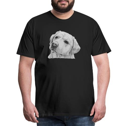 labrador retriever yellow - head - Herre premium T-shirt
