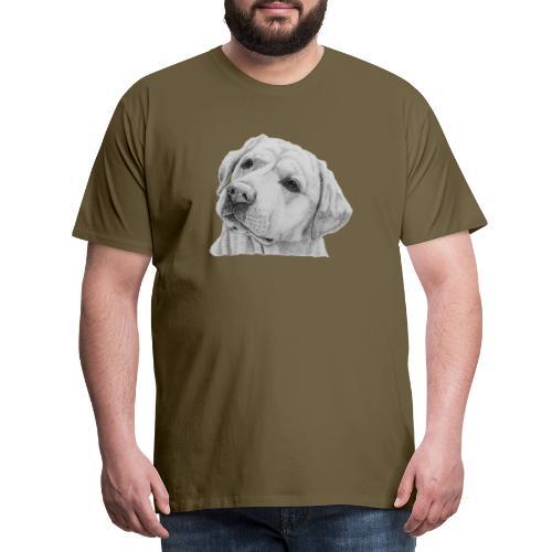 labrador retriever yellow - head - Herre premium T-shirt