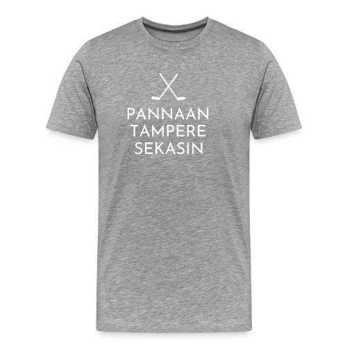 tampere valkoinen - Miesten premium t-paita