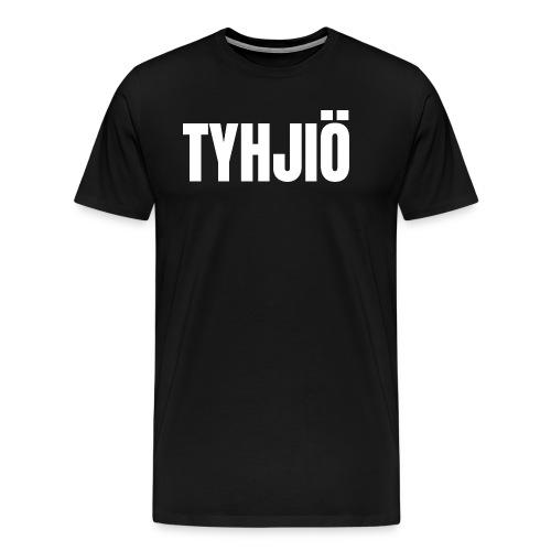 TYHJIÖ Logo White - Men's Premium T-Shirt