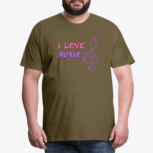 Love Music - Camiseta premium hombre