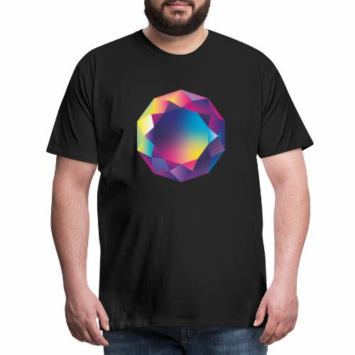 Diamond geometric illustration - Men's Premium T-Shirt