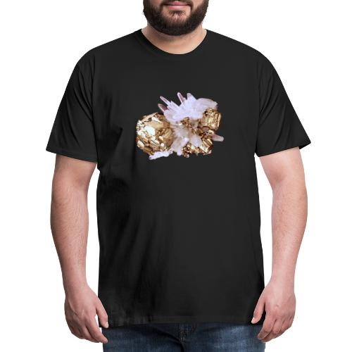 Pyrit Quarz Mineral Kristall Katzengold - Männer Premium T-Shirt