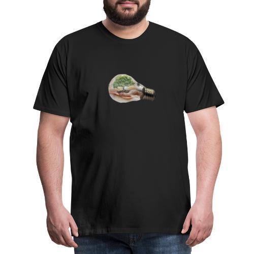 Baum und fliege in einer Glühbirne Geschenkidee - Männer Premium T-Shirt