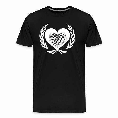 Herz Kranz Gitter Netz Logo Emblem Geschenkidee - Männer Premium T-Shirt