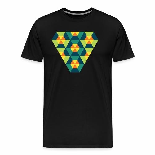 Triangular Geometry - Herre premium T-shirt