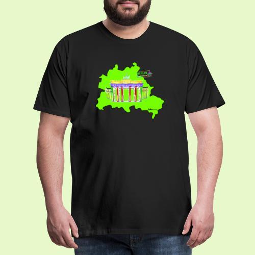 Berlin ist grün und bunt / BerlinLightShow - Männer Premium T-Shirt