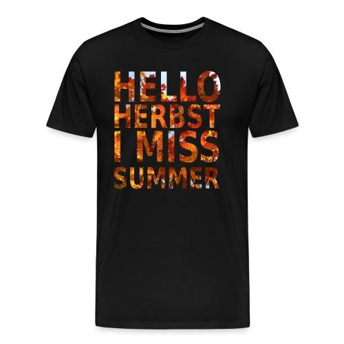 Hello Herbst - Männer Premium T-Shirt
