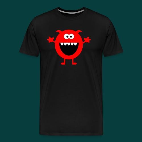 Lachendes Rotes Monster - Männer Premium T-Shirt