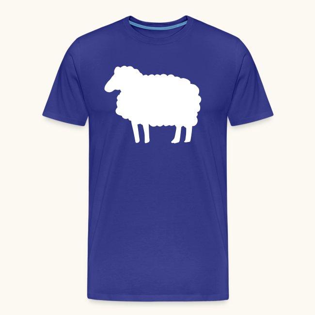 Farbe anpassbar Lustiges Schaf Silhouette Geschenk