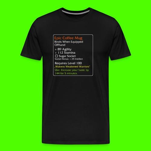Epic Coffe Mug png - Herre premium T-shirt