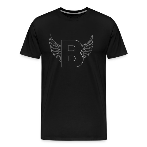 B Logo Weiss - Men's Premium T-Shirt