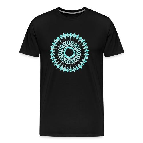 Ice Sunflower Mandala - Men's Premium T-Shirt