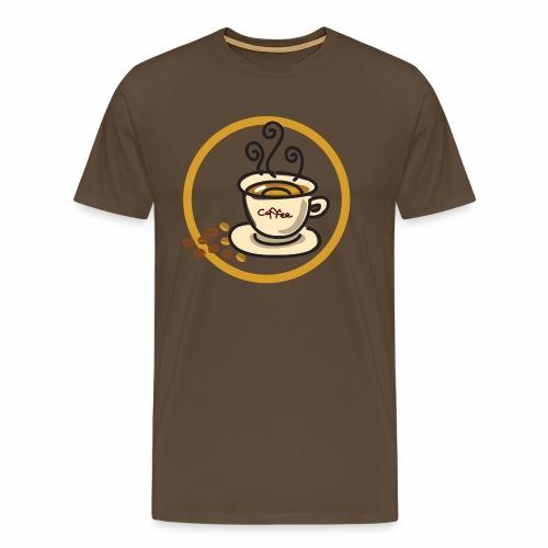 Kaffeeemblem - Männer Premium T-Shirt
