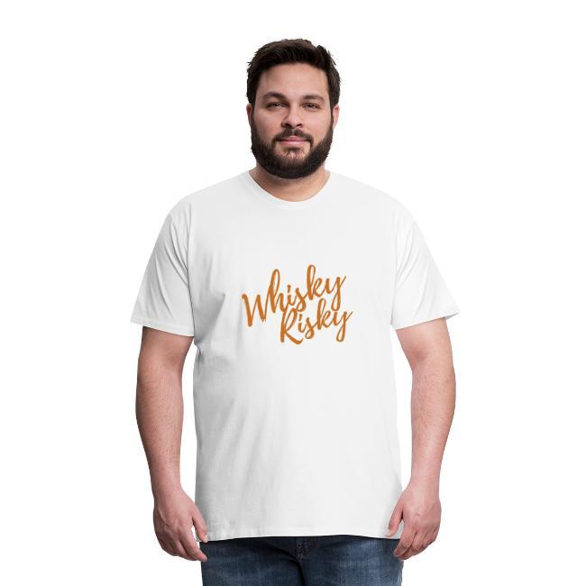 Whisky is risky Weiß/ Orange