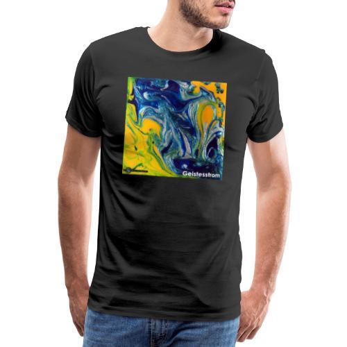TIAN GREEN Mosaik DE031 - Geistesstrom - Männer Premium T-Shirt