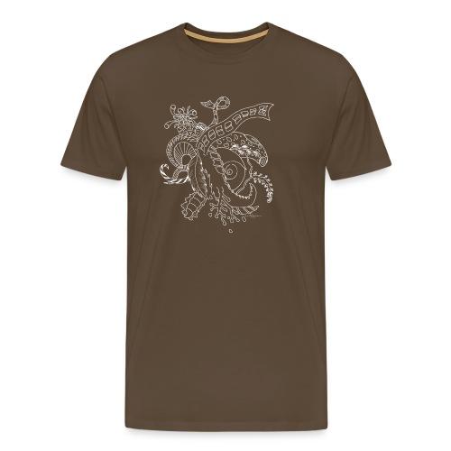 Fantasia valkoinen scribblesirii - Miesten premium t-paita