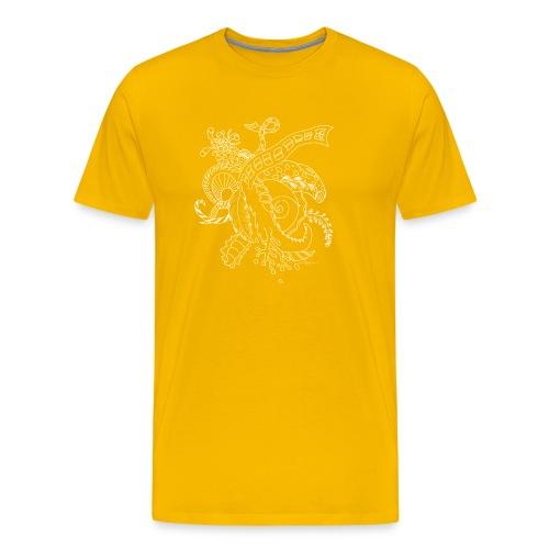 Fantasy hvid scribblesirii - Herre premium T-shirt