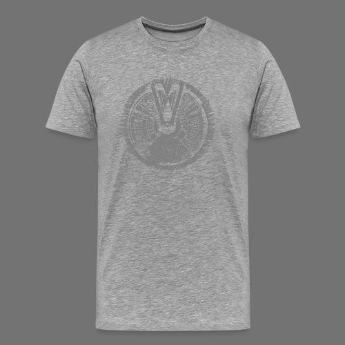 Maschinentelegraph (harmaa oldstyle) - Miesten premium t-paita