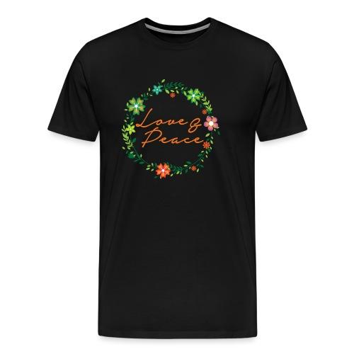 Love and Peace - Men's Premium T-Shirt